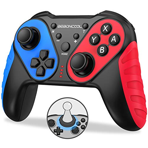 BEBONCOOL Controller für Nintendo Switch, NFC Wireless Switch Pro Controller 6 Achsen Gyro-Chip mit Dual Motors Vibration Turbo Funktion, Pro Controller Switch Kontroller Zubehör für Nintendo Switch