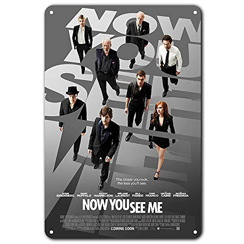 Now You See Me Movie Poster 8 X 12 Inches - Vintage Metal Tin Sign for Home Bar Pub Garage Decor Gifts