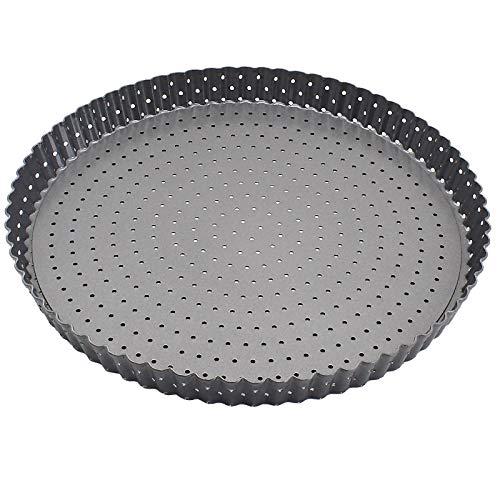 Plato Pizza Bandeja de horno de rectángulo redondeado for la torta de la empanada de pizza Práctica de acero al carbono pizza sartenes antiadherentes for hornear duraderos herramientas de cocina for h