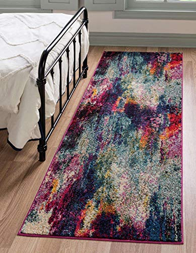 Unique Loom Chromatic Collection Modern Abstract Rustic Area Rug, 2' 2