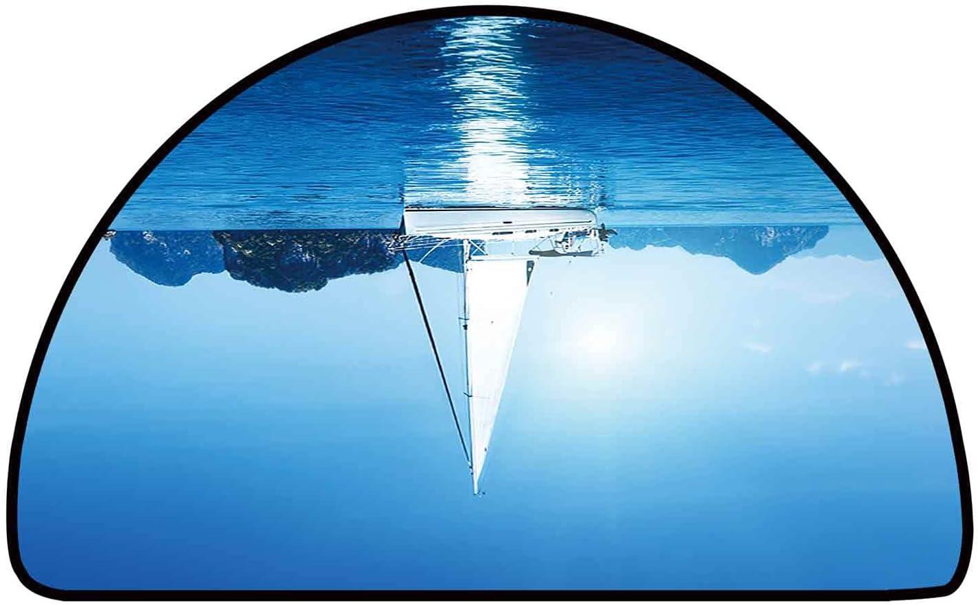 Half Round Bath Rugs Yacht and Ranking TOP16 Blue Water x 24 Mesa Mall W Ocean L Inch 35
