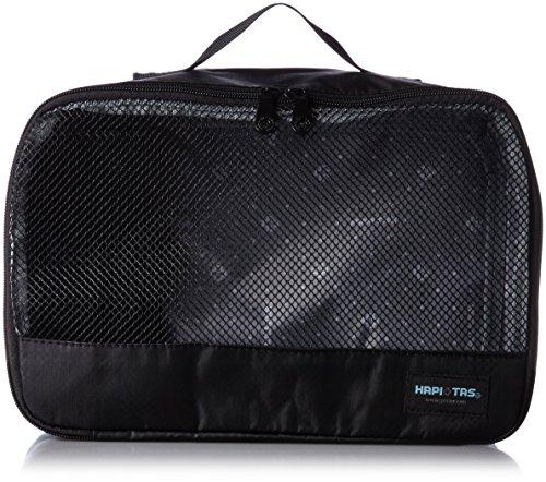 [ハピタス] オーガナイザー Mサイズ パッキングバッグ 中身がわかるメッシュ生地 豊富な柄 20 cm 0.12kg 128チェッカーブラック