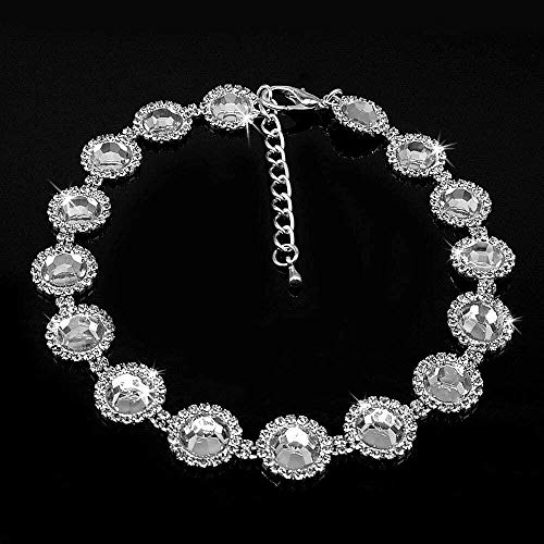 Collar de lujo con diamantes de imitación para perros pequeños y gatos, para fiestas, princesas, collar con diamantes de imitación, accesorio para mascotas_M