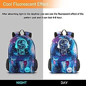 51Ml9TkGJ+L. SS300  - Dracarys Anime Galaxy Mochila Luminosa - Mochila Escolar con Puerto de Carga USB - Daypack Ambulante Bolso de Escuela de…