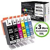 GPC Image PGI-580XXL CLI-581XXL Cartouches d'encre Remplacement Compatible Canon 580 581 XXL pour...