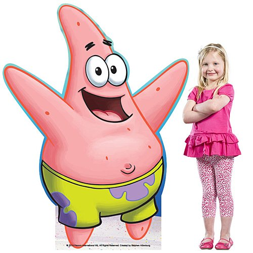 4 ft. 11 in. Patrick Star Spongebob Squarepants Standee Standup Photo Booth Prop Background Backdrop Party Decoration Decor Scene Setter Cardboard Cutout