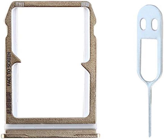 JayTong Tarjeta SIM Bandeja Titular de Repuesto con Remover Eject Pin Tool para Xiaomi 6 Mi6 Mi 6 Oro