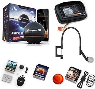 Deeper Smart Sonar Pro - Juego de soporte para smartphone (incluye funda para pesca nocturna, brazo flexible y funda XL)
