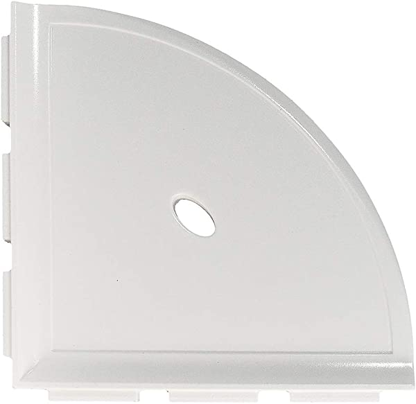 Questech 8 Inch Metro Bathroom Corner Shower Shelf For New Construction Polished White