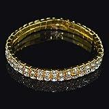 Homie Pulseras elásticas de Diamantes de imitación de 2/3 hileras...