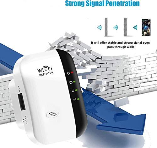 SOOTEWAY Repetidor WiFi, 300Mbps Extensor WiFi, Amplificador WiFi 2.4GHz con Repertidor/Ap Modo y la función WPS, 1 Puerto Fast Ethernet Wireless Amplificador
