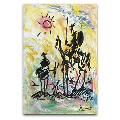 Don Quijote De Canvas Art Poster and Wall Art Picture Print Modern Family Bedroom Decor Posters 40 x 60 cm