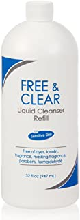 Free & Clear Liquid Cleanser   Fragrance, Gluten and Sulfate Free   For Sensitive Skin   32 Fl Oz