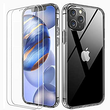 2-Pack Floveme Crystal Clear Compatible with iPhone 12 Case