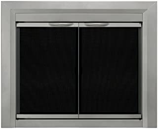 Pleasant Hearth CB-3300 Colby Fireplace Glass Door, Sunlight Nickel, Small