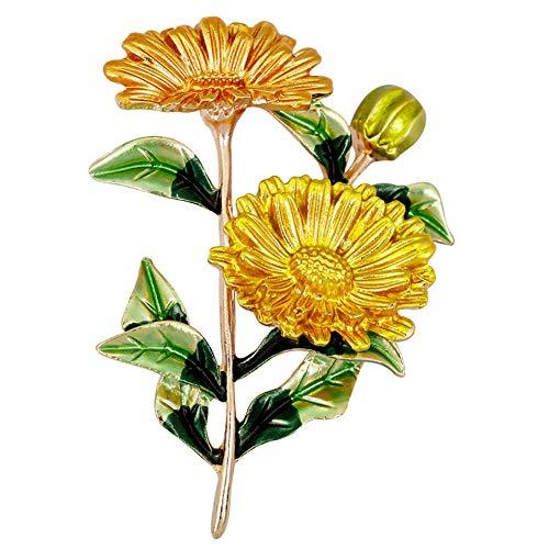 YAZILIND Moda Margarita Flor Broche Pines Mujeres Breastpin Ramillete niñas Joyas Regalo (Color 2)