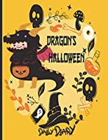 Dragon's Halloween : Daily diary: A cute full cats design daily journal planner organizer notebook 2021