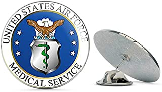 Round US Air Force Medical Service Seal (USAF Logo) Metal 0.75