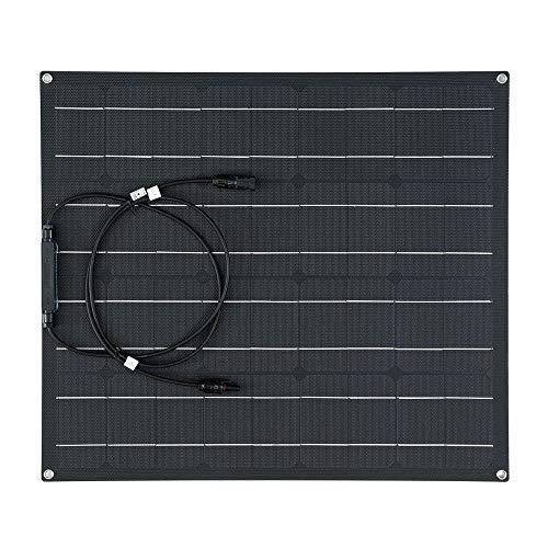 Fengbingl Solar Ladegerät 50W ETFE Solar Panel wasserdicht Auto-Notfall-Ladegerät mit 4 Schutz Corners (Farbe : Schwarz, Größe : 620x540x2.5mm)