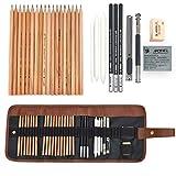 Lápices de Dibujo para Bocetos y Bosquejo, KidsPark 29 Pieza Set de Dibujo Artista Kit co...