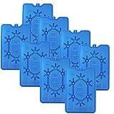 NEMT 8X Flacher Kühlakku 200 ml Kühlakkus 11 x 16,5 x 1,5 cm Kühlelemente Kühltasche Kühlbox