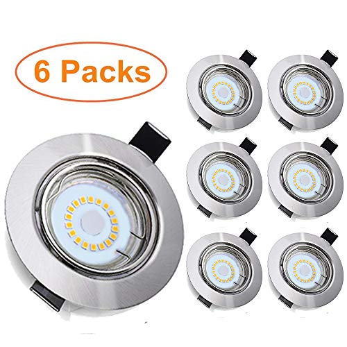 6 Piezas Foco Empotrable LED, Tomshine GU10 5W 500LM Focos