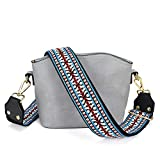 Bag/Purse Strap Replacement Crossbody Shoulder For Women Adjustable Jacquard Woven Cotton Guitar Strap Style (Style 13)