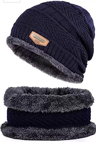 Handcuffs Winter Beanie Hat Scarf Set 2-Pieces Warm Knit Hat Thick Fleece Lined Winter Hat & Scarf for Men Women