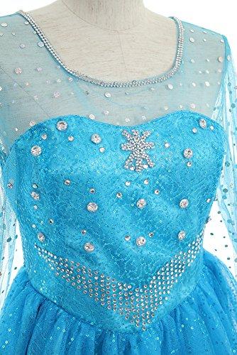 『クイーンアント(queenant) アナと雪の女王 Frozen エルサ Elsa ドレス コスプレ 本格 衣装 ミニ丈 ショート丈』の3枚目の画像