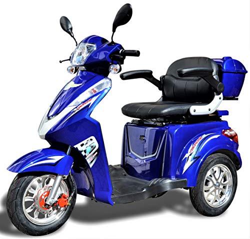 Elektromobil ECO Engel 501 (Blau), 25 km/h, 1000 Watt, E-Scooter E-Roller Senioren-Scooter mit Straßenzulassung