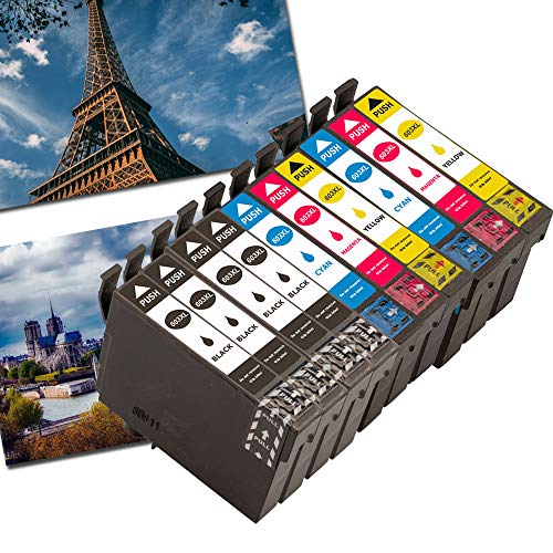 Caidi - Cartuchos de tinta para Epson 603XL compatibles con Epson Expression Home XP-2100 XP-2105 XP-3100 XP-4100 XP-2100 XP-2105 XP-3105 XP-4105, color 4noir,2cyan,2magenta,2jaune