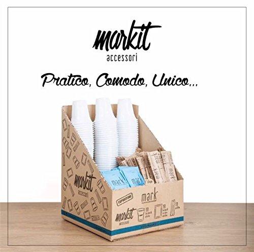 MARKIT - KIT ACCESSORI CAFFE' - Bicchieri Professionali, Zucchero, Palette.