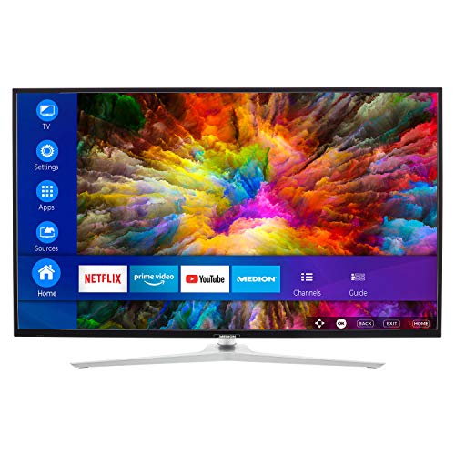MEDION X15511 138,8 cm (55 Zoll) UHD Fernseher (Smart-TV, 4K Ultra HD, Dolby Vision HDR, Micro Dimming MEMC, Netflix, Prime Video, WLAN,Triple Tuner, DTS, PVR, Bluetooth)