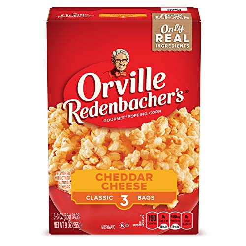 Best Review Of Orville Redenbacher's Cheddar Cheese Microwave Popcorn, 9-Ounce Boxes (Pack of 12)