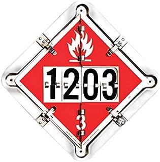 Labelmaster 126CT-206 7 Legend Hazmat Flip Placard System for Tankers, Full Frame