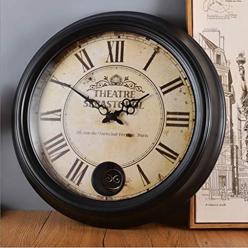 LBBD 18 Pulgadas yomioak Moderno silencioso Reloj de Pared sin tictac Europeo Vintage Simple clásico