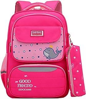 LIMING Spine Protection Bag Nylon Schoolbag Lightweight Multi-Pocket Shoulder Bag Gift Unisex,Size:28 * 13 * 40cm,Colour:Y...
