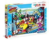 Clementoni Racers Puzzle 104 Piezas Mickey and The Roadster Racer, Color, Miscelanea (27984.5)