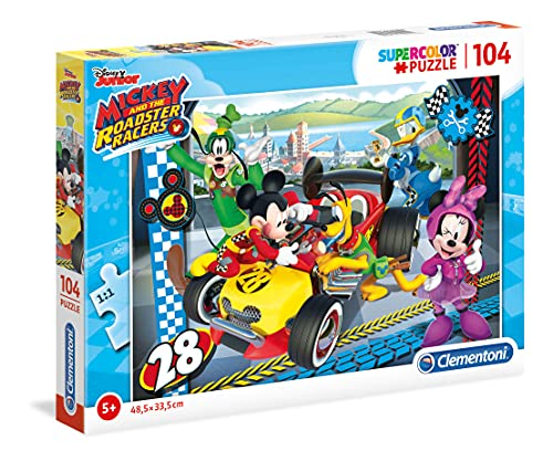 Clementoni Puzzle 104 Piezas Mickey and The Roadster Racer, Color, Miscelanea (27984.5)
