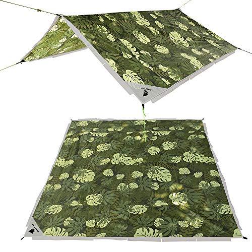 GEERTOP グランドシート タープ 軽量 防水 230x230cm 2-4人用 キャンプ ビーチ アウトドア テントシート 収納バッグ付き