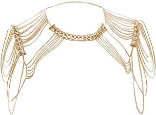 gold shoulder necklace
