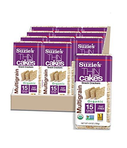 Suzie's Multigrain Thin Cakes, Case of 12 Packages 4.9 Oz Each