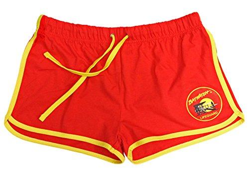Baywatch-Damen-Shorts, Rot/Gelb Gr. L, rot