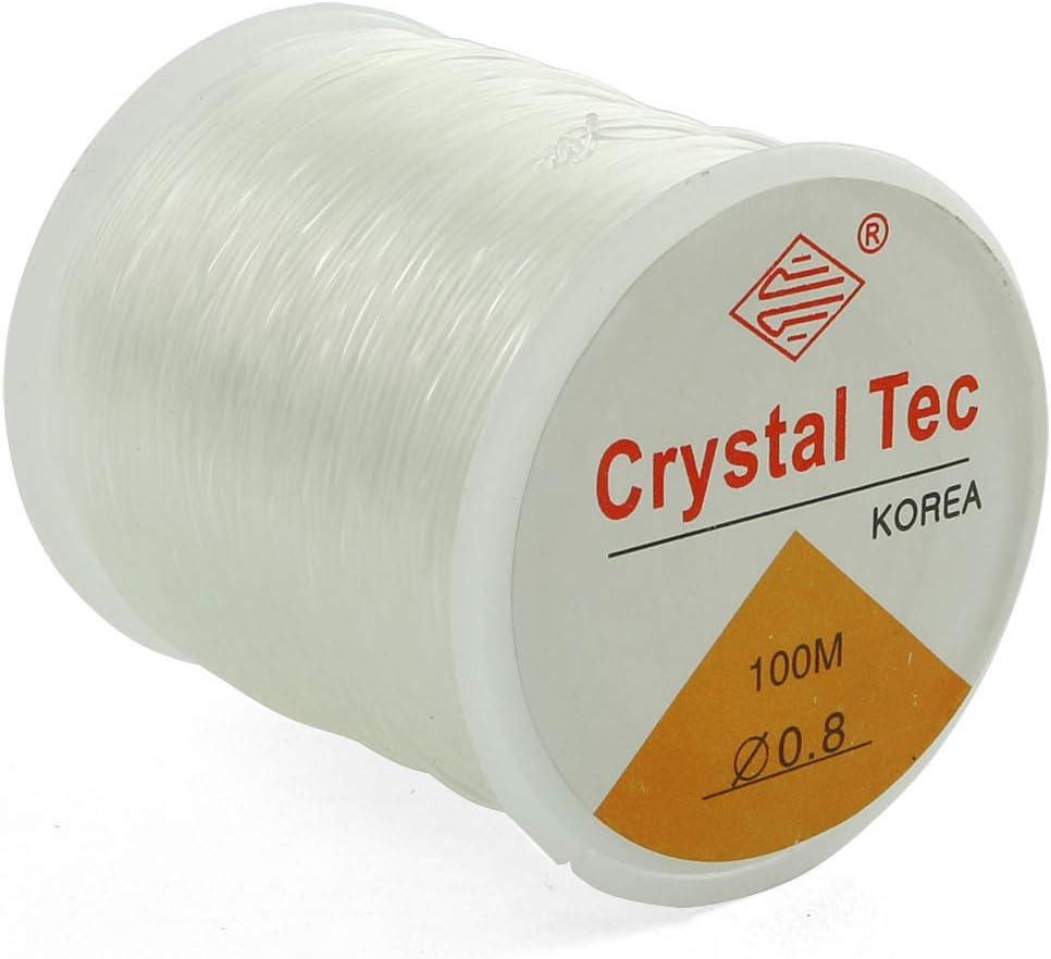 ZYAMY 0.8mm Beading Thread White Transparent Stri Inexpensive Elastic OFFicial site