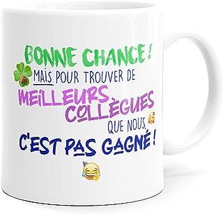 Mug Humour Collègue Tasse Message Drôle Rigolo. Idée Cadeau Original pour Départ en Retraite Mutation Travail Bureau Homme...