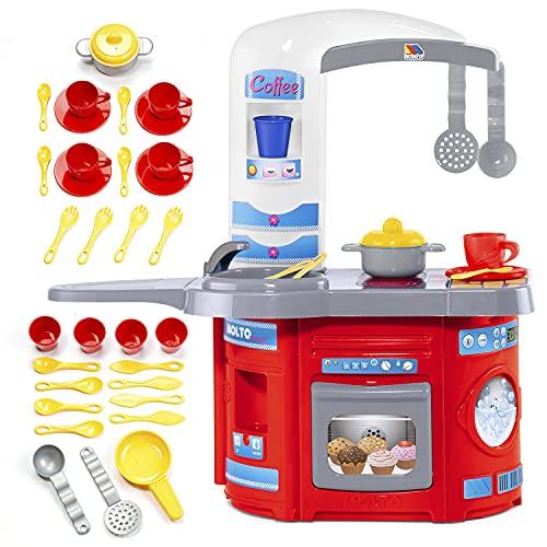 MOLTO | Cocinita de Juguete para Niña y Niño con Electrodomésticos | Juguetes Educativos para Niños | A Partir de 2 Años