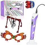 HyleLab Stylo 3D Violet | Idéal pour Les Travaux Manuels Enfants, Ado et Adultes | Loisirs en Famille | kit Creatifs| 3D Pen Outil Professionnel | Filament PLA 1.75 ( Ecologique ) ou ABS