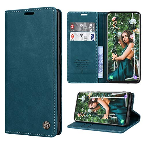 RuiPower Handyhülle für Samsung Galaxy S20 Hülle Premium Leder PU Flip Hülle Wallet Lederhülle Klapphülle Magnetisch Silikon Schutzhülle für Samsung Galaxy S20 Tasche (6.2'') - Blaugrün