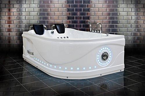 Venezia 760 Hydrotherapie-badkamer rechts (hoofdfoto) / twee personen whirlpool / Jacuzzi badkuip / bedieningspaneel met FM-radio / 50 roestvrij stalen body sproeiers / 24 maanden garantie / snelle levering