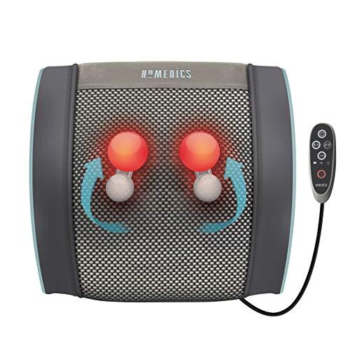 Homedics SGP-1500 Masaje de espalda con cabezales GEL, Recargable, 50 minutos de uso continuo con 1 recarga individual, uso versátil